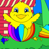 Easter Egg Chick Coloring